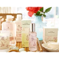 Thymes Kimono Rose Bath and Body Collection