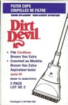 Dirt Devil F19 Broom Vac Filter