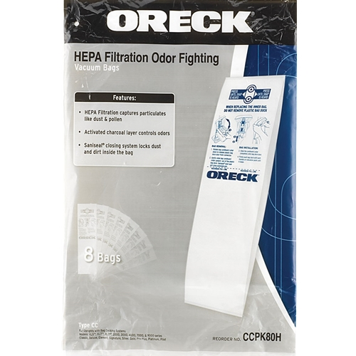 Oreck CC HEPA Filtration Bags
