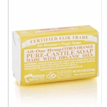 Pure Castile Bar Soap Citrus Orange