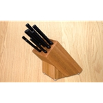 Oak Block and Knife Set of 9 Pieces