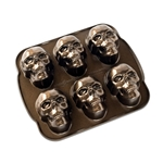 Haunted Skull Cakelet Pan