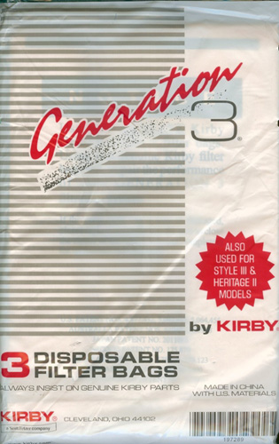 Kirby Style 3 and Generation 3 Vacuum Bags 197289
