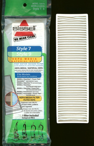 Bissell Style 7, 9 HEPA Filter