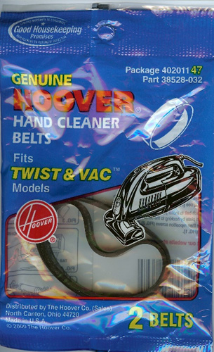 Hoover Twist & Vac Belts 38528032 / 40201147