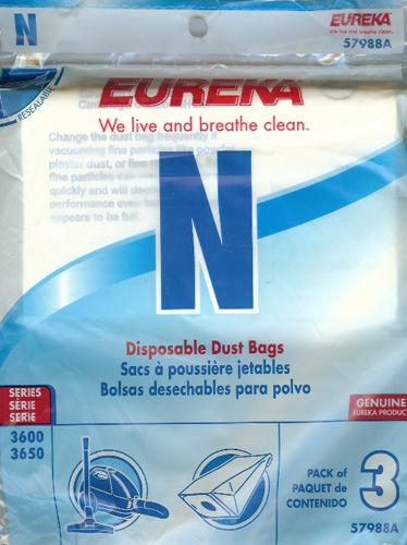 Eureka Style N Disposable Dust Bags 57988