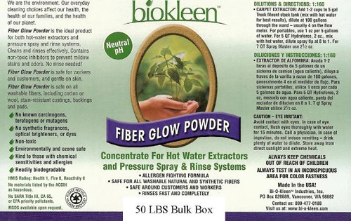 BioKleen Fiber Glow Powder Carpet Cleaner 50 lbs